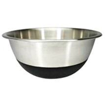 Stainless Steel Mixing Bowl Silicone Bottom 2 Quart Amco Homeworks Non Skid - $13.86