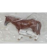 Tomy LP65088 Four Inch John Deere Solid Brown Horse White Feet Big Farm - $8.99