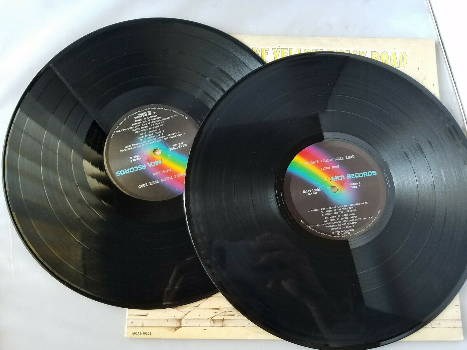 Elton John Yellow Brick Road Disque Vinyle Vintage 1973 MCA Records