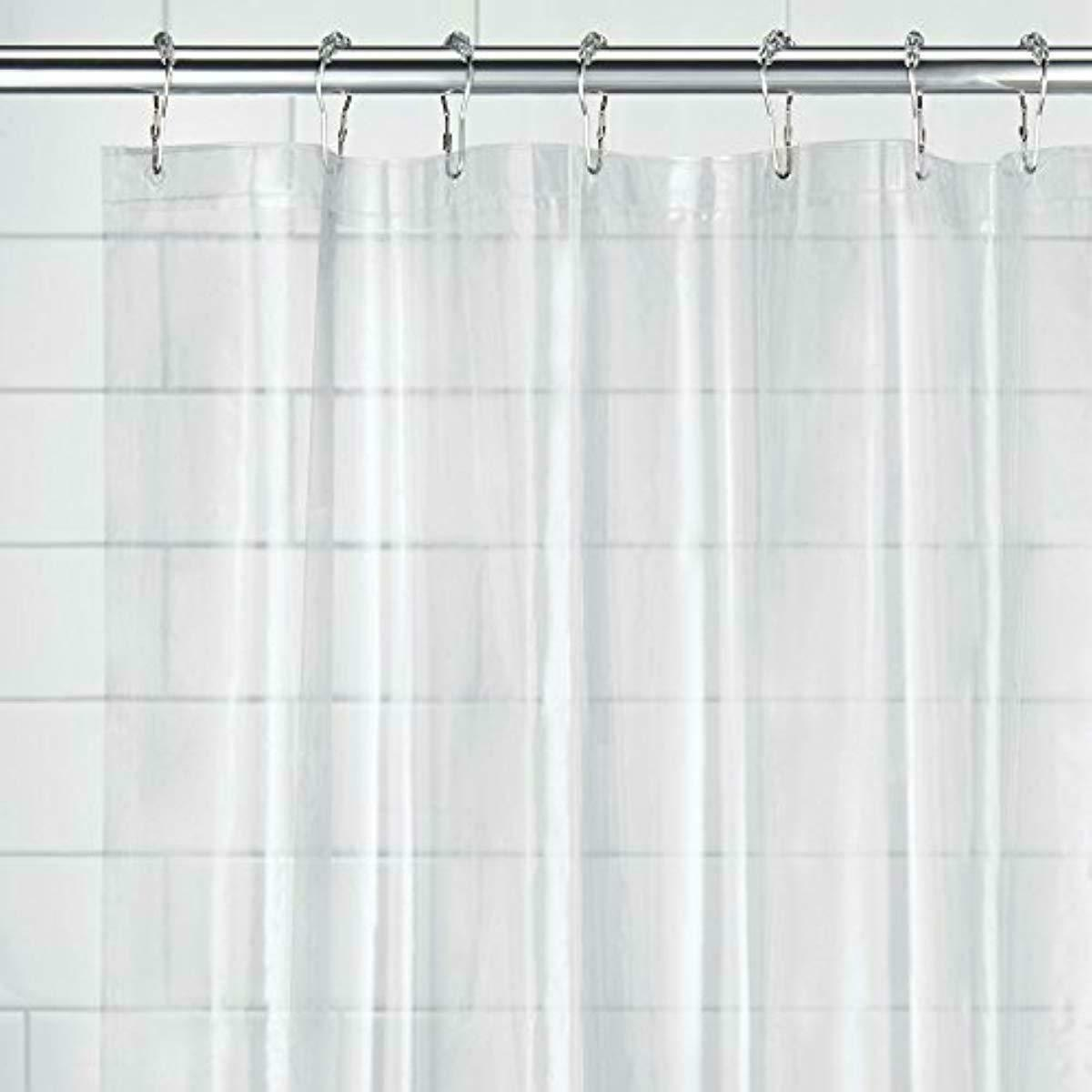 "Clear Shower Curtain Liner Bath Water Proof Mold and Mildew Resistant 72"" x 72"""