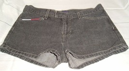 Tommy Hilfiger 1999 Tommy Jeans Womens Size 9 Black Denim Jean Shorts  - $24.72