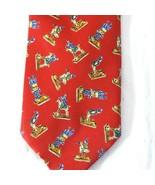 V&A Victoria and Albert Museum Silk Tie Men Necktie Red Multi-color Made... - $19.77
