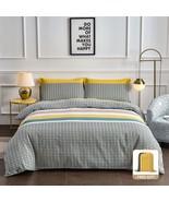 Y-PLWOMEN Duvet Cover - 1000-Thread-Count Bed Sheet Luxury Cotton Stripe... - $114.99+