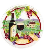 Trivet Hot Pad Tuscany Wine & Cheese Hand Painted Art Tile Kitchen Decor... - $44.01