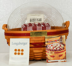 LONGABERGER Christmas Collection POPCORN Basket Liner Protector 1999 NEW - $64.99