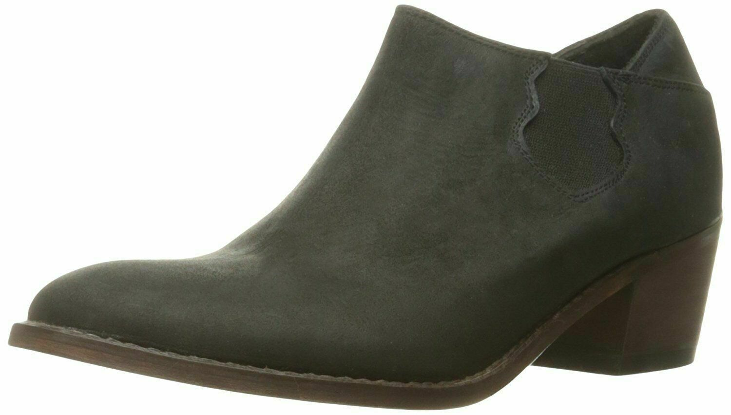 NEW 1883 by Wolverine Womens Alice Black Leather Slip-On Ankle Booties Boots NIB