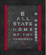 "Ball State Cardinals 13x16 College ""Chalkboard Look Eye Chart"" Framed Print - $39.95"
