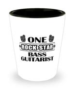 Bass Guitarist Shot Glass - One Rock Star - 1.5 oz Ceramic Cup For Music  - $12.95