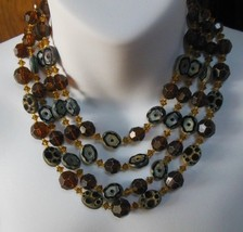 Vintage Four-Strand Bead Necklace - $24.75