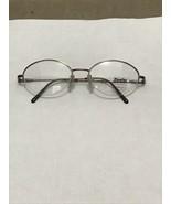 NOS Half Rimless Luxottica Sferoflex 2450 Silver Eyeglass Flex Frame 51-... - $40.00