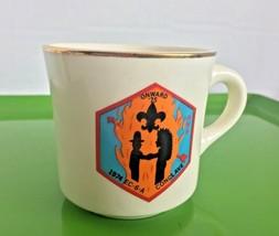 USA 1974 Conclave Onward '75 BOY SCOUTS OF AMERICA Mug Coffee Cup Shakin... - $8.00