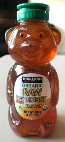 Primary image for New 1 lb 8 oz (24oz) KIRKLAND Signature ORGANIC RAW HONEY Bear Shape Bottle 680g