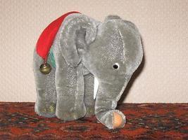 Steiff Elephant Mohair Plush 0500/17 1968 - 1976 Silver Button Tag Tusks - $138.88