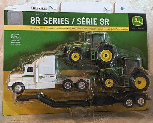 John Deere TBE45353 ERTL 8R Series 8325R 8335R Tractors Semi Drop Bed Trailer