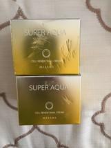 Lot Of 2 MISSHA Super Aqua Cell Renew Snail Cream - BRAND NEW - NIB - $40.00