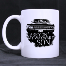 Carry on My Wayward Sons Custom Personalized Coffee Tea White Mug - $13.99