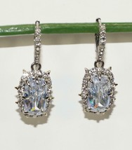 NEW ALEXIS BITTAR SWAROVSKI CRYSTAL DROP EARRINGS w/Pouch - AUTH - $140.24