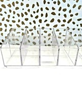 Made by Design Lucite Nail Center Makeup Organizer 2.9 inches high x 4 inches  image 2