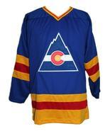 Custom Name # Colorado Retro Hockey Jersey Sewn New Blue Lever #9 Any Size - $54.99+