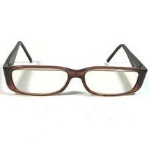 Fendi Clear Brown Glitter Monogram Logos Rectangular Eyeglass Frames F830 217 - $23.38