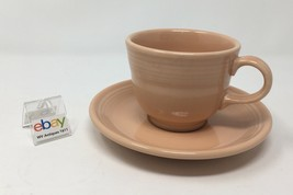 Retired Fiesta Apricot Cup and Saucer - Nice! - Many Available! - $6.99