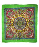 "Wholesale Lot of 3 Paisley Mosaic Multi Color Green 100% Cotton 22""x22"" Bandana - £7.18 GBP"