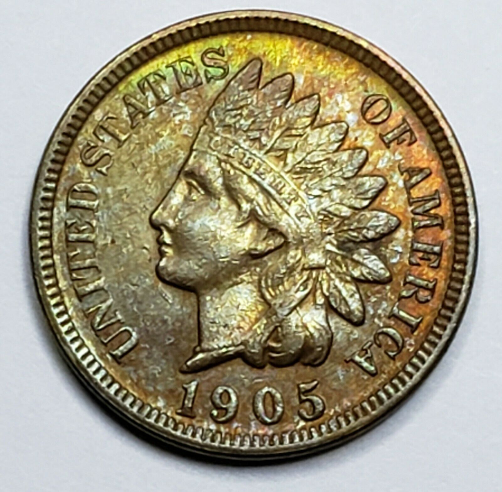 1905 Indian Head Cent Penny Coin Lot 519-91
