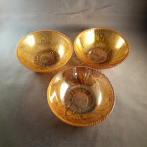Iridescent Marigold Iris and Herringbone fruit bowls (3) - $31.50