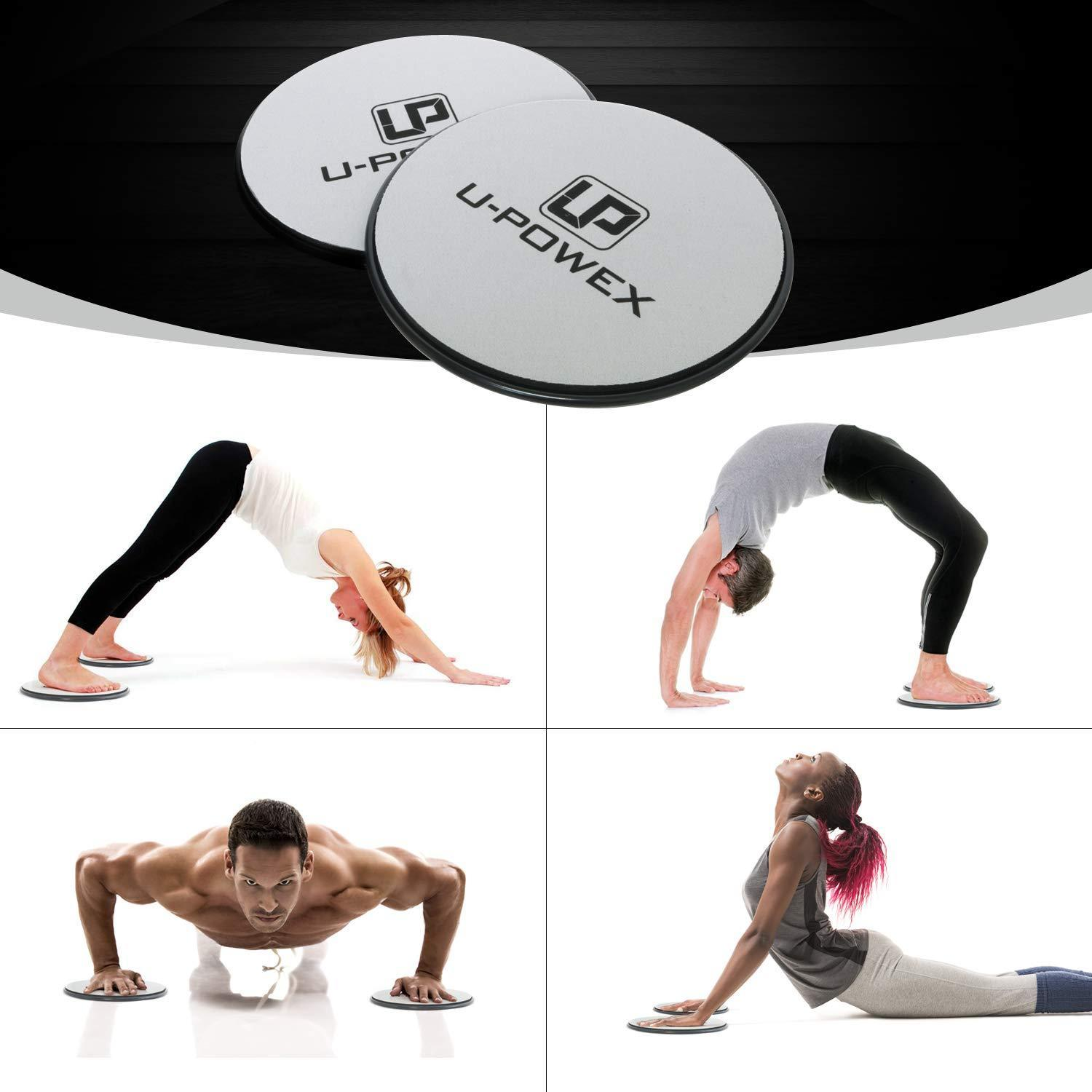 UPOWEX Exercise Sliders  Dual Sided Core Sliders – Work Smoothly on Any Surface. image 2