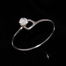 MOONSTONE NATURAL FIRE 3 MM ROUND 925 STERLING SILVER 7 US RING - £4.31 GBP