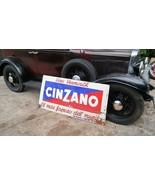 Antique Large Heavy Metal Porcelain CINZANO Sign c. 1935-49 - $1,250.00