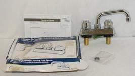 Homewerks Worldwide 16U42WNCHB Chrome Two Handle Laundry Tray Faucet image 1