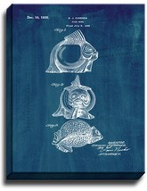 Fish Bowl Patent Print Midnight Blue on Canvas - $39.95+