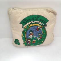vintage shabby chic  hand decorated good luck Irish pillow st patricks day - $14.15
