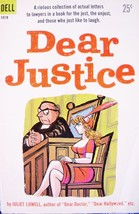 "JULIET LOWELL ""DEAR JUSTICE"" VTG 1958 PAPERBACK CARTOON BOOK - $4.99"