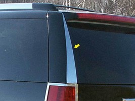07-14 CADILLAC ESCALADE 4dr QAA Stainless 2pcs Rear Window Trim RW47255 - $38.49