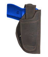 New Barsony Brown Leather 360Carry 12 Option OWB IWB Holster 380 Ultra C... - $64.99