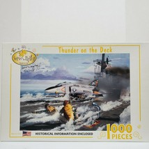"""Serendipity 1000 PC Jigsaw Puzzle """"Thunder On The Deck"""" Marines Autographed - $18.25"""