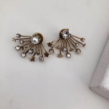 SALE* NEW AUTH Christian Dior 2019 CD DIORAINBOW CRYSTAL LOGO STAR Earrings image 11