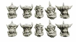 Spellcrow Orcs: Armored Orcs Heads 28mm Scale bits