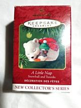 A Little Nap--1st in series--Hallmark Keepsake ornament--2001--Snowball ... - $5.00