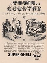 Orig Vintage Magazine AD/ 1940s Shell Gasoline Ad - $13.00
