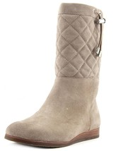 Michael Kors Lizzie Quilted Mid Calf Suede Boots Boot Dark Dune 11 New $... - $158.39