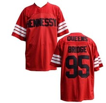 Hennessy Prodigy 95 Queens Bridge Movie Stitched Football Jersey Red - $42.99