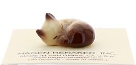 Hagen-Renaker Miniature Cat Figurine Siamese Kitten Sleeping Chocolate Point image 1