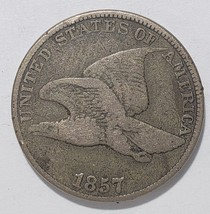 1857 Flying Eagle Cent Coin Lot# E 328