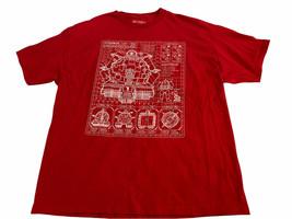 Teenage Mutant Ninja Turtles Rot Kurzärmelig Hemd Loot Crate Größe 2XL - £10.72 GBP