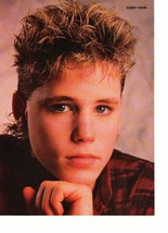 Corey Haim teen magazine pinup clipping 16 magazine spiky double sided 1980's