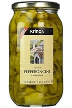 Krinos Whole Greek Pepperoncini Peppers Pickled in Vinegar, 32 OZ - £21.41 GBP