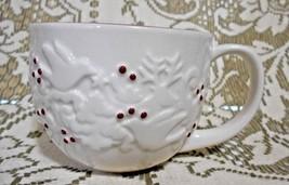 Starbucks 2007 Red White Doves Trees Reindeer Xmas Ceramic Coffee Mug 12 oz - $12.53